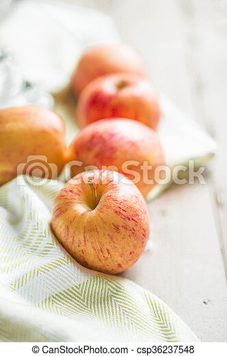 Apples On Wooden Background - csp36237548