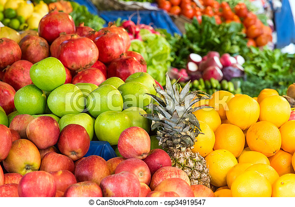 Apples, oranges and other fruits - csp34919547