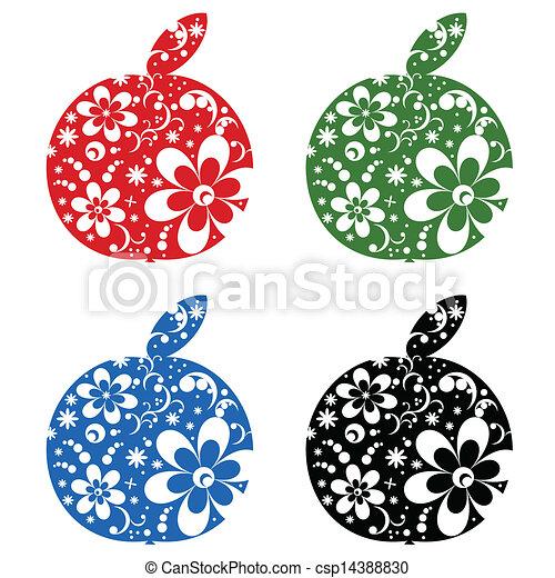 Apples set - csp14388830