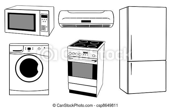 Kitchen Appliances Clipart