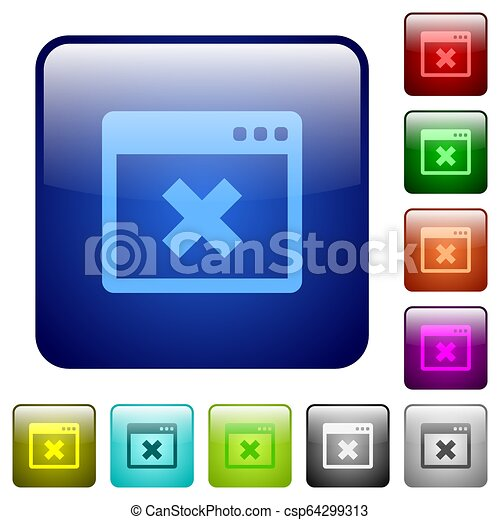 Application cancel color square buttons - csp64299313