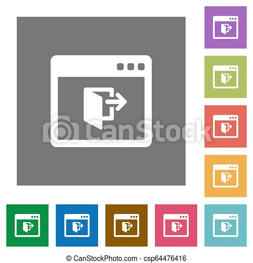 Application exit square flat icons - csp64476416