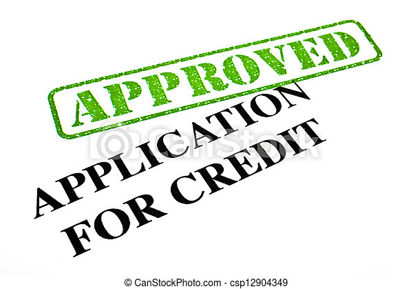 Application For Credit APPROVED - csp12904349