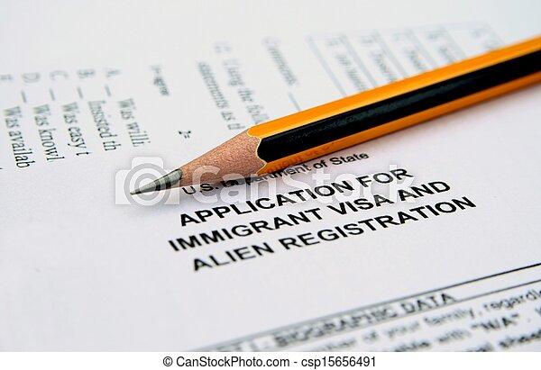 Application for immigrant visa - csp15656491