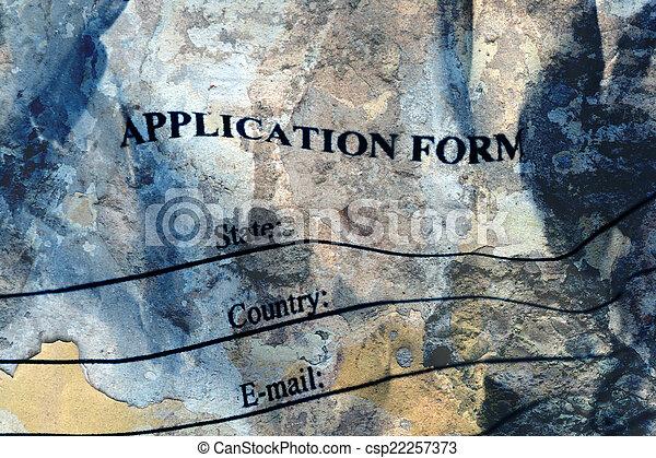 Application form  - csp22257373