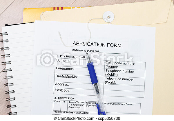 Application form - csp5858788