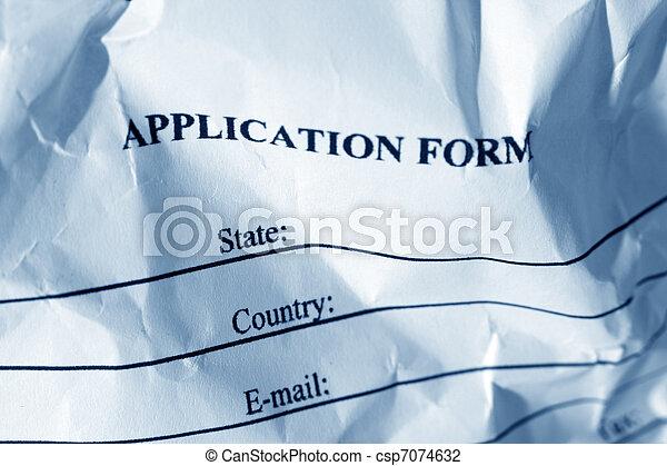 Application form  - csp7074632