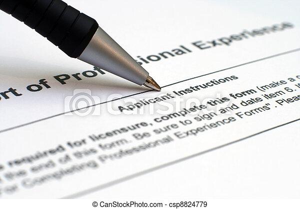 Application form - csp8824779