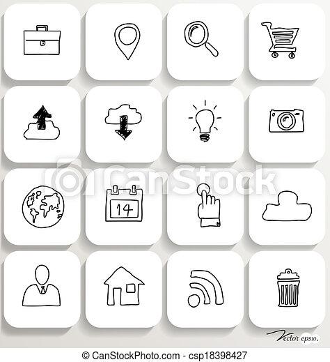 Application icons design set 1. Vector illustration. - csp18398427