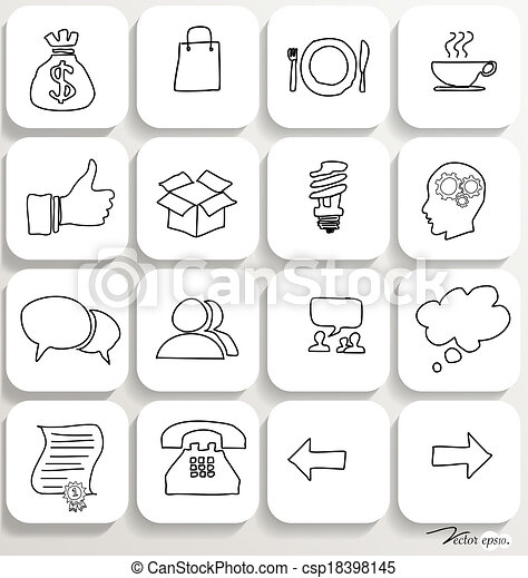 Application icons design set 2. Vector illustration. - csp18398145