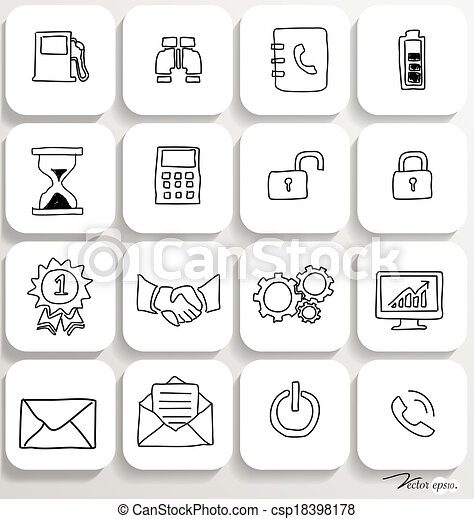Application icons design set 3. Vector illustration. - csp18398178