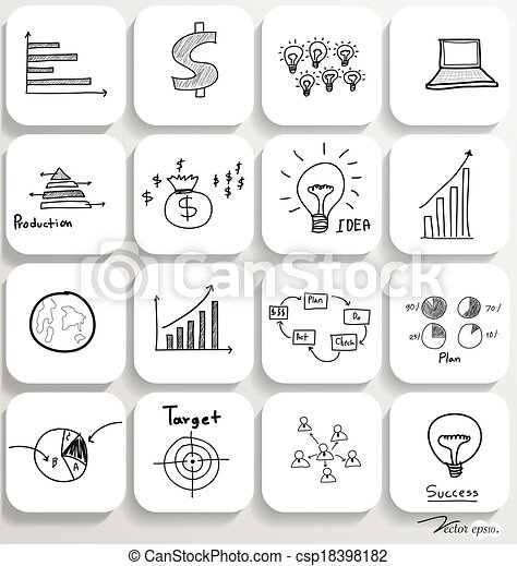 Application icons design set 4. Vector illustration. - csp18398182