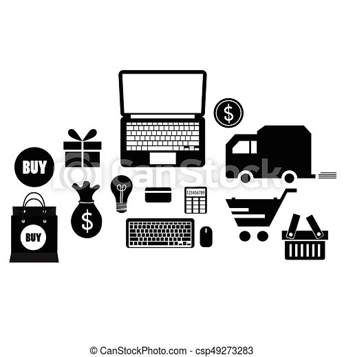 Application icons design. Vector illustration - csp49273283