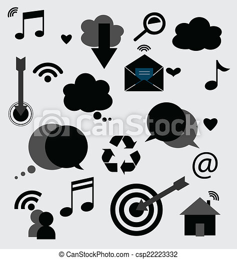 Application icons design. Vector illustration. - csp22223332