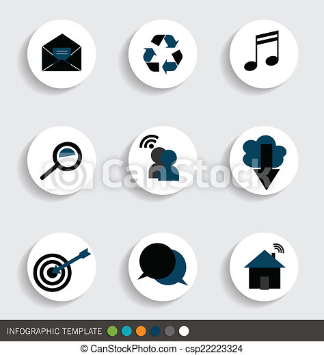 Application icons design. Vector illustration. - csp22223324