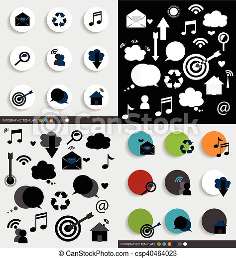 Application icons design. Vector illustration. - csp40464023