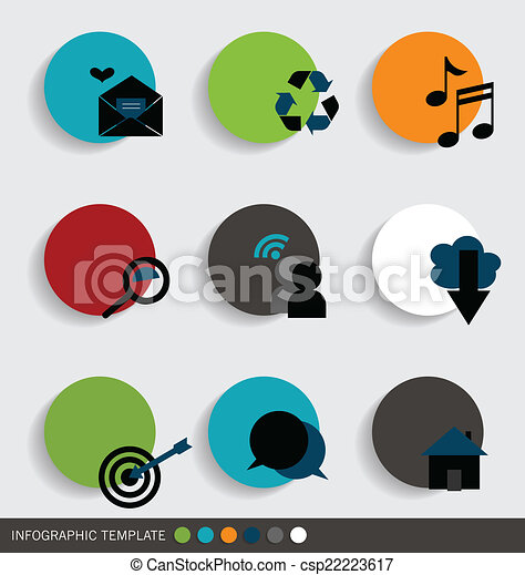 Application icons design. Vector illustration. - csp22223617