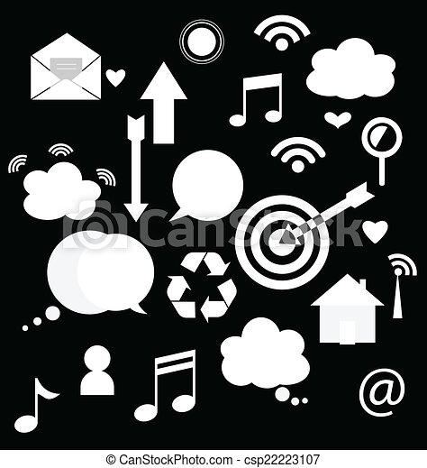 Application icons design. Vector illustration. - csp22223107