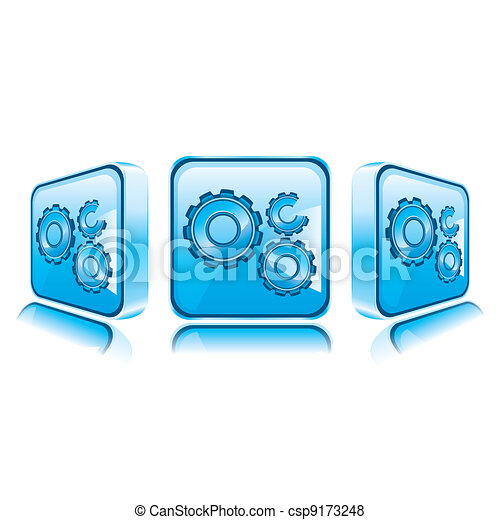 Application icons for Smart Phone isolated on white background - csp9173248