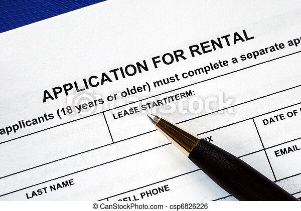 application, loyer, signé - csp6826226