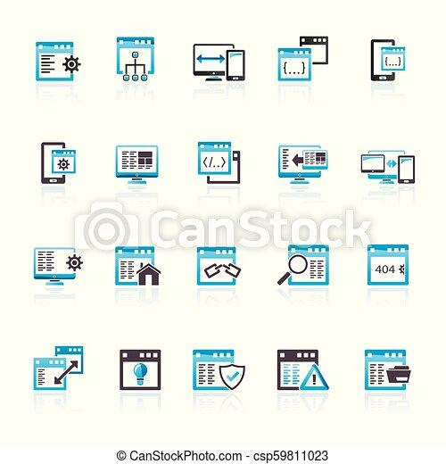 Application programming software icons - csp59811023