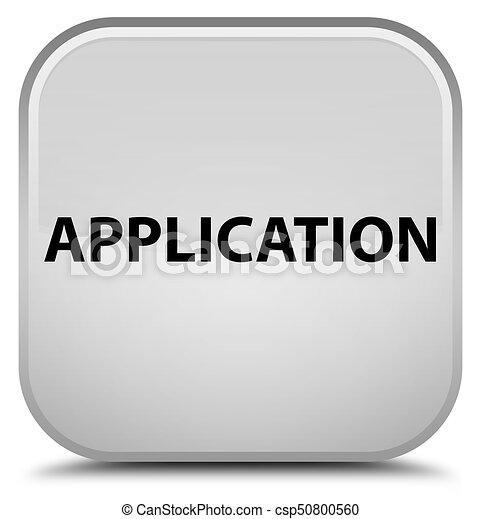 Application special white square button - csp50800560