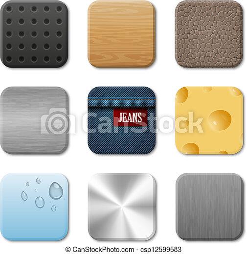 application, vecteur, interface utilisateur, icône, meute - csp12599583