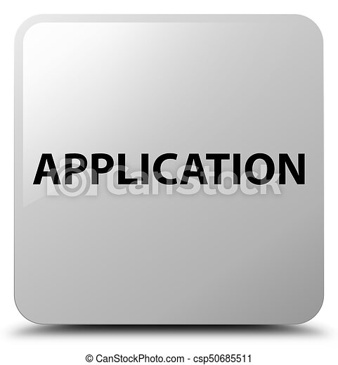 Application white square button - csp50685511