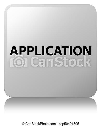 Application white square button - csp50491595