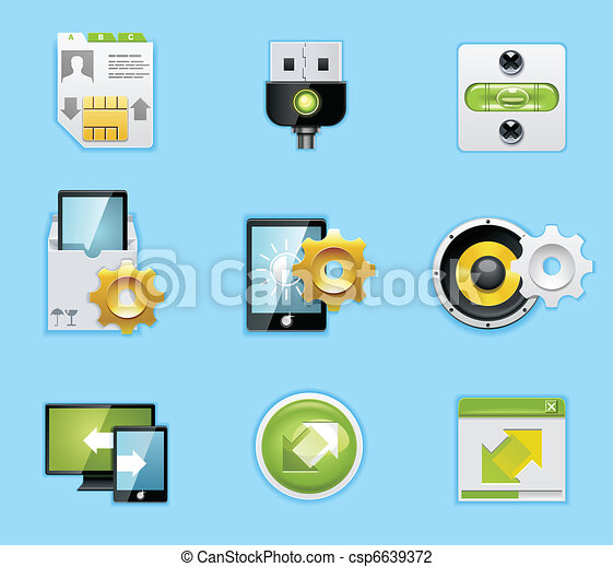 Applications and services icons - csp6639372