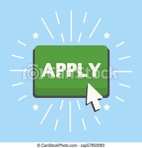 Apply green button - csp57850083