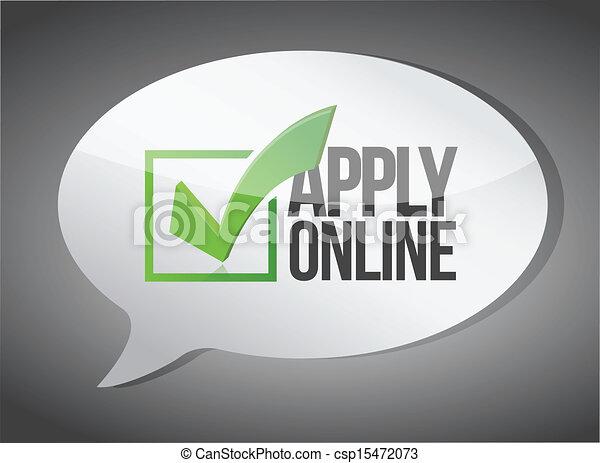 apply message illustration design - csp15472073