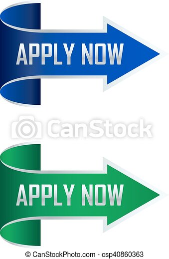 Apply now arrow - csp40860363