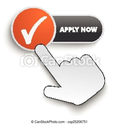 Apply Now Button Hand Cursor - csp25206751