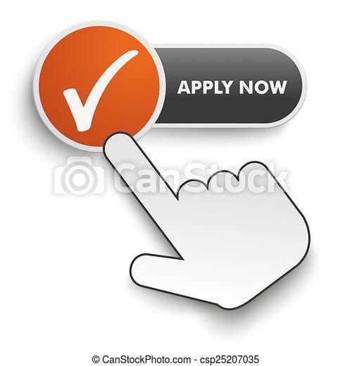 Apply Now Button Hand Cursor - csp25207035