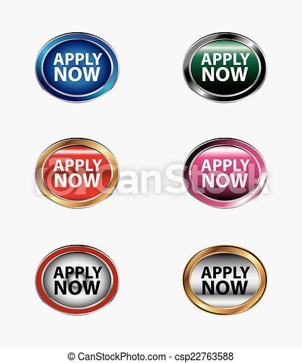 Apply now button icon - csp22763588