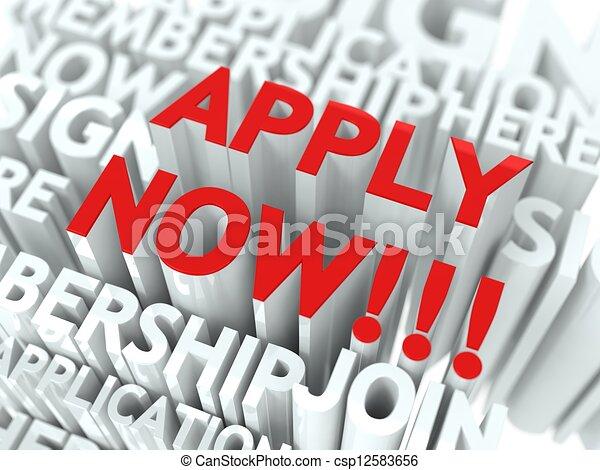 Apply Now Concept. - csp12583656