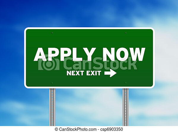 Apply Now Road Sign - csp6903350