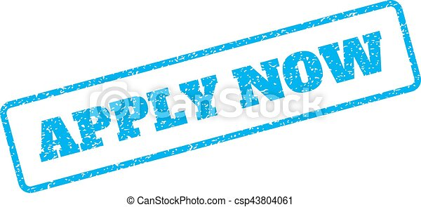 Apply Now Rubber Stamp - csp43804061
