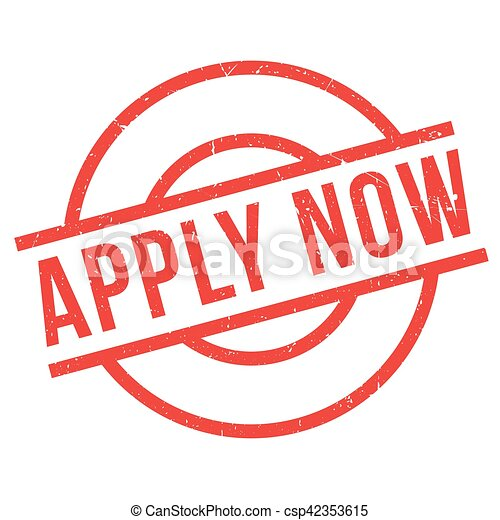 Apply Now rubber stamp - csp42353615