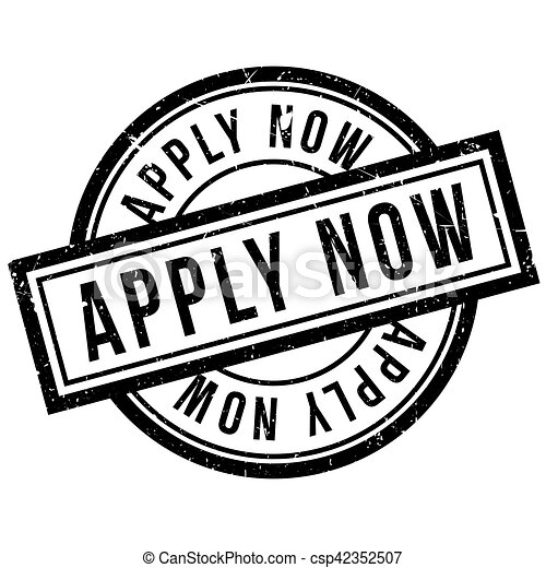 Apply Now rubber stamp - csp42352507
