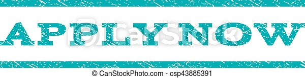 Apply Now Watermark Stamp - csp43885391