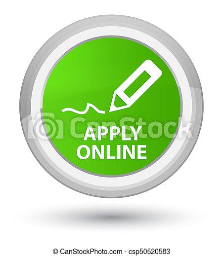 Apply online (edit pen icon) prime soft green round button - csp50520583