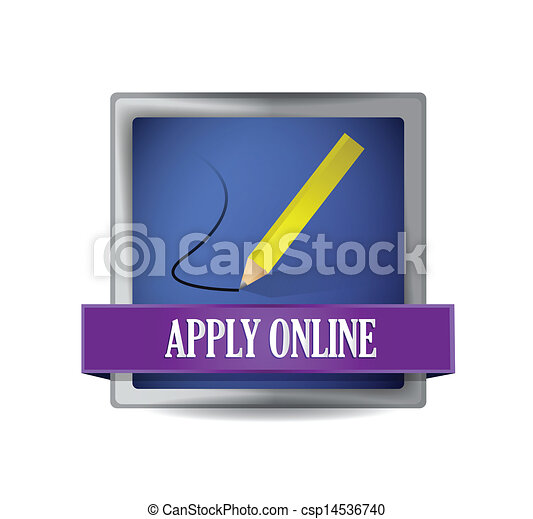 Apply online glossy blue reflected square button - csp14536740
