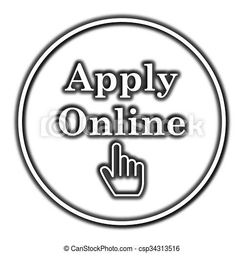 Apply online icon - csp34313516