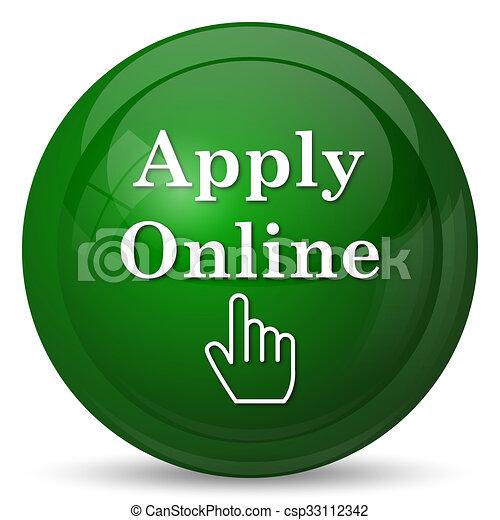 Apply online icon - csp33112342
