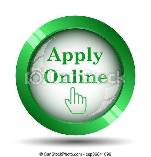 Apply online icon - csp36641096