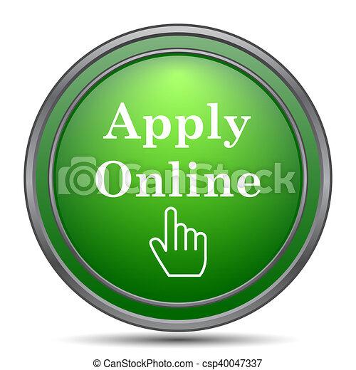 Apply online icon - csp40047337