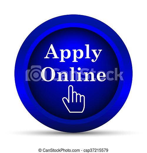 Apply online icon - csp37215579
