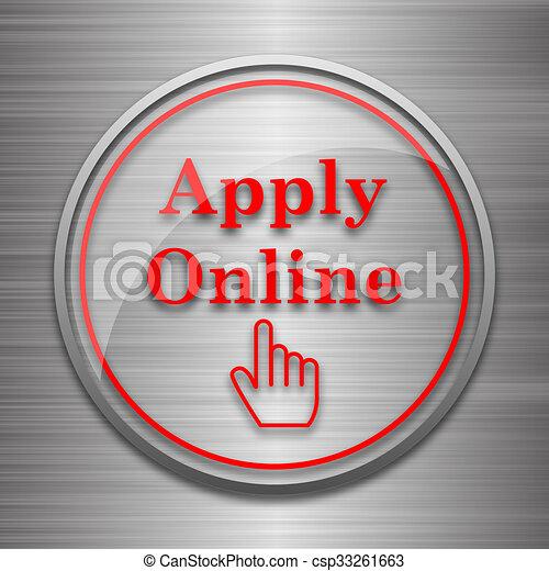 Apply online icon - csp33261663